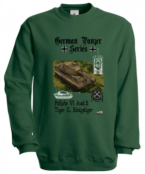 Mikina German Panzer Series - M Zelená
