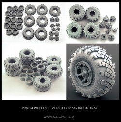 Wheel set VID-201 for 6X6 Truck KRAZ 255B/260