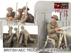 British AEC Truck crew- 4 Figures