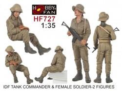 IDF Tank Commander &Female soldier-2 Fig