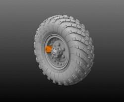 Wheel set  for ZiL-137 / BTR-152  (6pcs plus extra) includes PE part