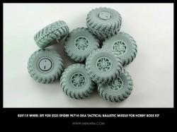 Wheel set for SS23 Spider 9K714 OKA Tactical Ballistic Missile
