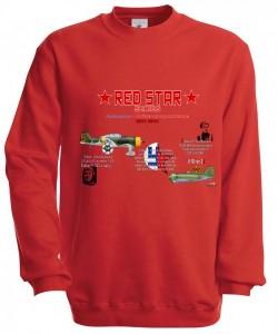Mikina Red Star Series Series - XL Červená