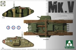 WWI Heavy Battle Tank MarkV 3 in 1