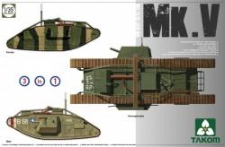 WWI Heavy Battle Tank MarkV 3 in 1
