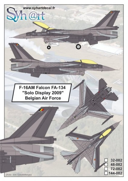 "F-16AM Falcon FA-134 ""Solo Display 2009"" Belgian Air Force"