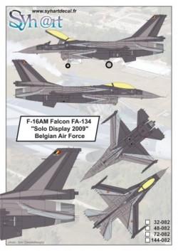 "F-16AM Falcon FA-134 ""Solo Display 2009"" Belgian Air Force"
