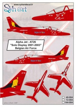 """Alpha Jet AT26 """"Solo Display 2001-2003"""" Belgian Air Force"""