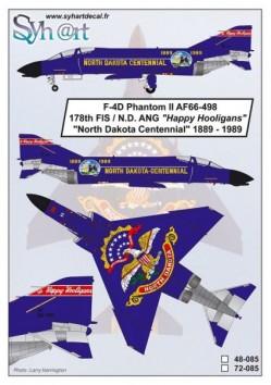 """F-4D Phantom II AF66-498 """"North Dakota Centennial"""" 1889-1989"""