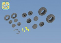 Wheels set for MiG-29 Soviet Russian fighter – No mask series