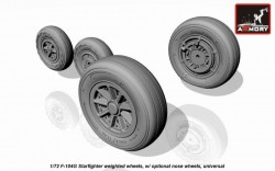 F-104G Starfighter wheels, w/ optional nose wheels, weighted