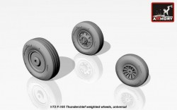 F-105 Thunderchief wheels, weighted