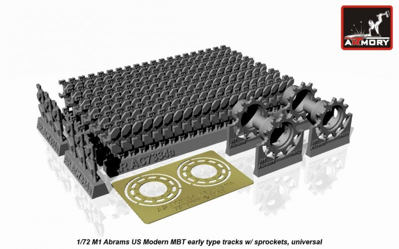 M1 Abrams series tracks, early, w/ drive wheels