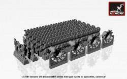 M1 Abrams series mid type tracks (solid teeth) w/ drive wheels