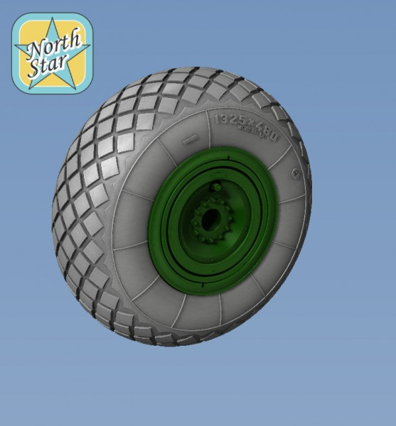Wheels set for Soviet helicopter Mil Mi-6 No mask series