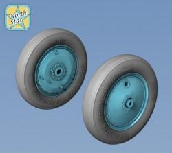 Wheels set for soviet fighter Polikarpov I-16 No mask series