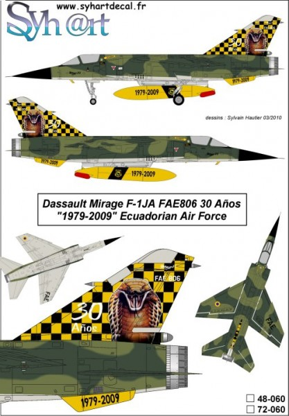 Mirage F-1JA FAE806 30 Años 1979-2009 Ecuadorian AF