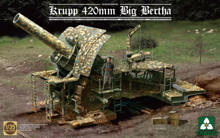 German Empire 420mm Big Bertha Siege How
