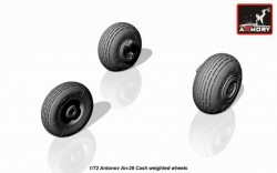 Antonov An-28 Cash wheels w/ weighted tires