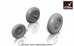 Gloster Javelin weighted wheels
