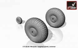 deHavilland DH.98 Mosquito weighted wheels