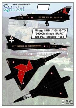"""Mirage IIIRD 33-TG """"90000h Mirage III.RD"""" ER 3/33 Moselle 1988"""