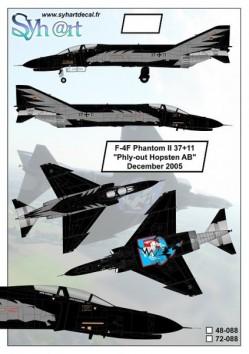 "F-4F Phantom II 37+11 ""Phly-out Hopsten AB"" December 2005"