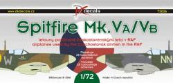 Spitfire Mk.VA/VB československých pilotů v RAF