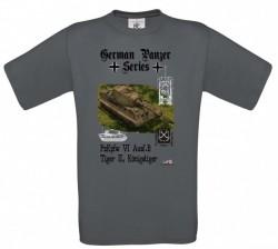 Tričko krátky rukáv German Panzer Series - Tmavo šedá XXL