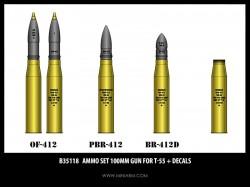 Ammo set 100mm gun for T-55 + decals