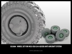 Wheel set for 9K33 Osa SA-8 Gecko Anti Aircraft system