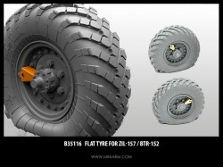 Flat tyre for ZiL-157 / BTR-152