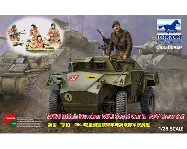 WWII British Humber MK.I Scout Car & AFV Crew Set