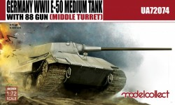 Germany WWII E-50 Medium Tank with 88/L71 gun (middle turret)