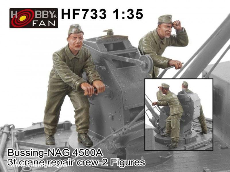 Bussing-NAG 4500A 3t crane repair crew-2 Figures
