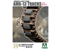 French Light Tank AMX-13 Tracks with Rubber