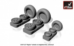 F-22 Raptor wheels w/ weighted tires, universal