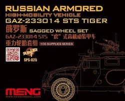 Russian Armored High-mobility Vehicle GAZ 233014STS Tiger Sagged WheelSet