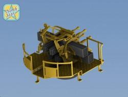 Royal NAVY 2 pdr Mark-VII Quad mount – 4 pcs