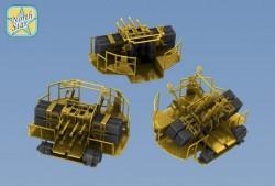 Royal NAVY 2 pdr Mark-VII Octuple mount – 4 pcs