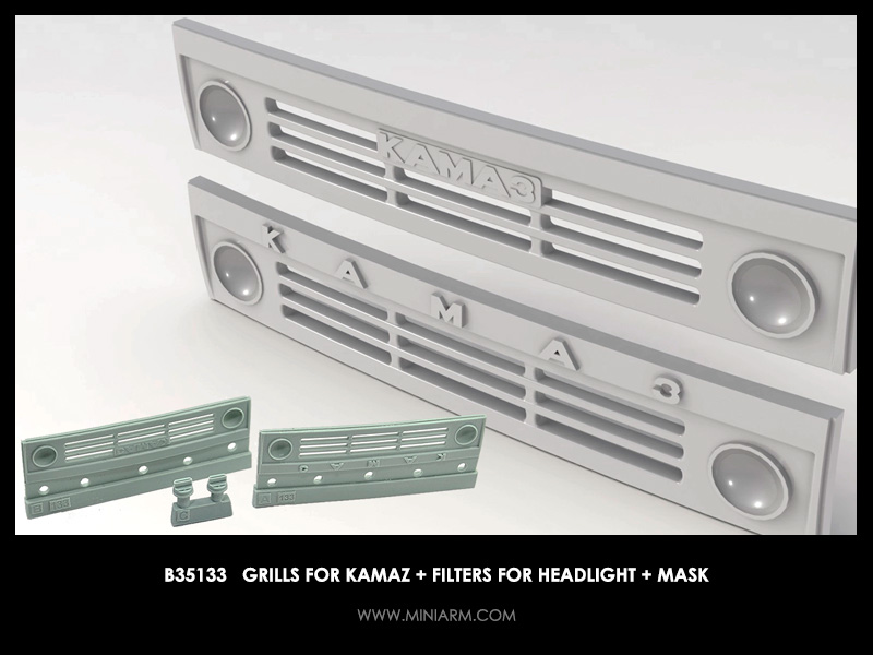Grills for Kamaz  (2 pcs+ filters for headlight + mask)