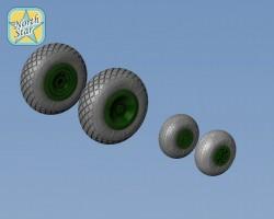 Wheels set for Soviet helicopter Mil Mi-6 Light series