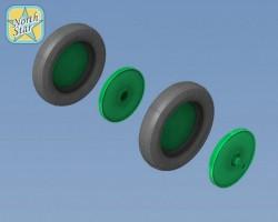 Wheels set for Soviet WWII plane U-2 / Po-2 - No Mask series