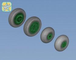 Wheels set for Ka-27 / Ka-32 Soviet / Russian helicopter