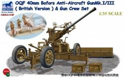 OQF Bofors 40mm Anti-Aircraft Gun Mk. Mk.I/III (British Army)&Gun Crew Set