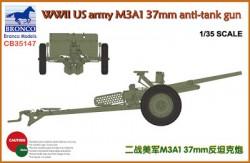 WWII US Army M3A1 37mm Anti-Tank Gun