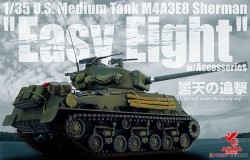 U.S.Medium Tank M4A3E8 Sherman EasyEight w/Accessories