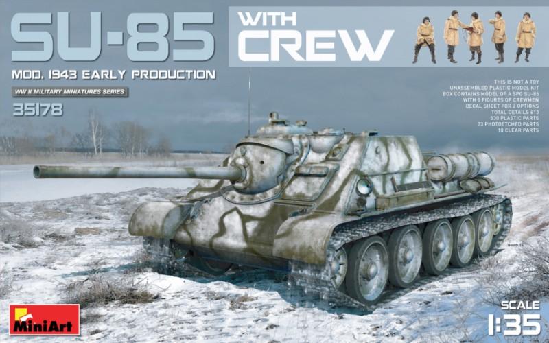 SU-85 Mod.1943(Early Produktion) w/Crew