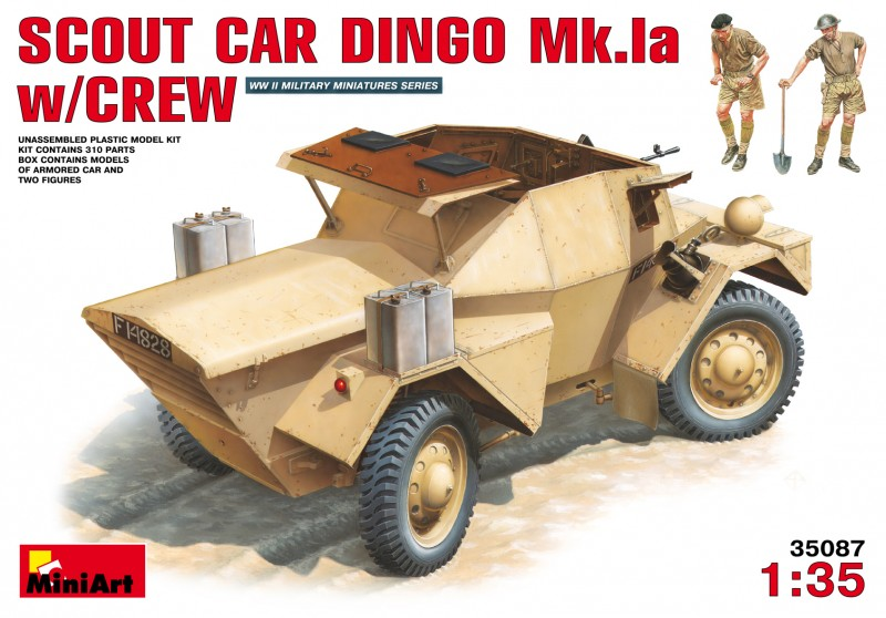 Scout car Dingo Mk 1A with Crew