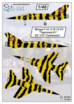 "Mirage F-1C 12-YH #16 ""Tigermeet'91"""